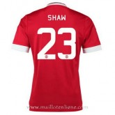 Maillot Manchester United Shaw Domicile 2015 2016 PasCher Fr