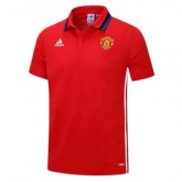 Maillot Polo Manchester United Rouge 2016 2017 Vendre Cannes