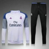 Maillot Real Madrid Formation Ml Blanc 2016 2017 Boutique Paris