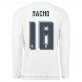 Maillot Real Madrid Manche Longue Nacho Domicile 2015 2016 Officiel