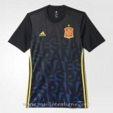 Nouvelle Collection Maillot Avant-Match Espagne Bleu 2016 2017
