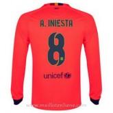 Nouvelles Maillot Barcelone Manche Longue A.Iniesta Exterieur 2014 2015
