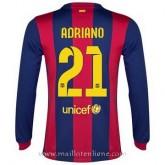 Original Maillot Barcelone Manche Longue Adriano Domicile 2014 2015