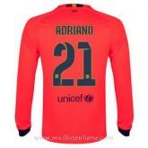 Paris Maillot Barcelone Manche Longue Adriano Exterieur 2014 2015