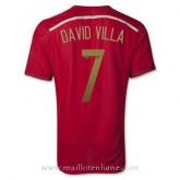 Prix Maillot Espagne David Villa Domicile 2014 2015