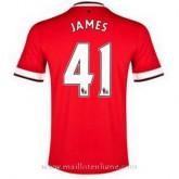 Prix Maillot Manchester United James Domicile 2014 2015