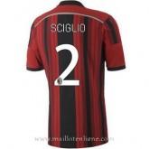 Solde Maillot Ac Milan Sciglio Domicile 2014 2015
