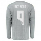 Solde Maillot Real Madrid Manche Longue Benzema Exterieur 2015 2016
