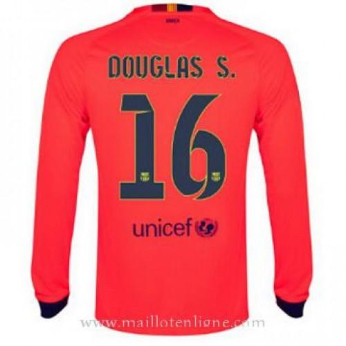 Soldes maillot barcelone manche longue douglas s for Maillot exterieur barcelone 2014