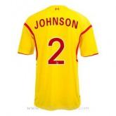 Soldes Maillot Liverpool Johnson Exterieur 2014 2015