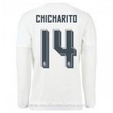 Vente Privee Maillot Real Madrid Manche Longue Chicharito Domicile 2015 2016